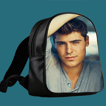 Zac Efron for Backpack / Custom Bag / School Bag / Children Bag / Custom School Bag *