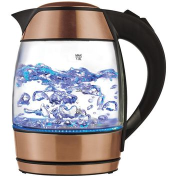 Brentwood 1.8-liter Electric Glass Kettle With Tea Infuser BTWKT1960RG
