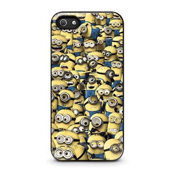 minions collage iphone 5 5s se case cover  number 1
