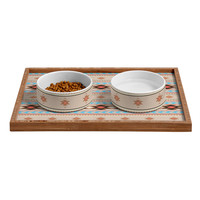 Gabi Niyol Blue Pet Bowl and Tray