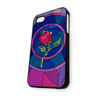 Beauty and Beast rose glass Custom JDC089 M iPhone 5/5S Case