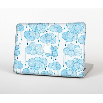 The White and Blue Raining Yarn Clouds Skin for the Apple MacBook Air 13""