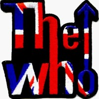 The Who - Logo with British Flag Inside - Embroidered Iron On or Sew On Patch (Union Jack)