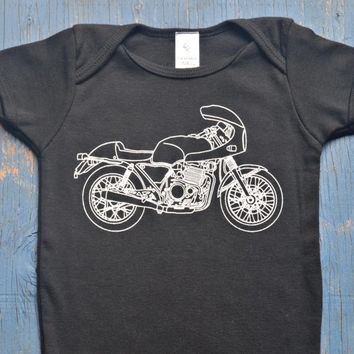 Baby Onesuit - Super Cute Tough Guy Motorcycle Onesuit  - Motorcycle Baby Bodysuit