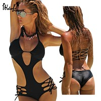 Bandage Swimsuit Swimwear Women 2018 Bathing Suit Monokini Trikini One Piece Swimsuit Swimming Suit Maillot De Bain Une Piece