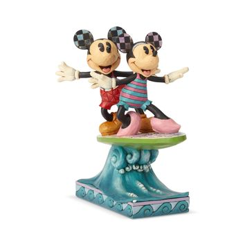 Disney Traditions Minnie & Mickey Surfboard Jim Shore Figurine New with Box