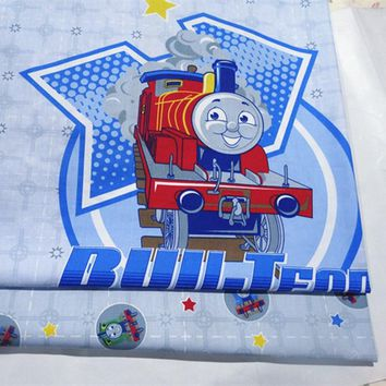 half meter train star print cotton fabric infant baby bedding patchwork fabric tecido quilting craft material sewing tissue A738