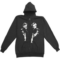 Boondock Saints Men's  Bro's Zippered Hooded Sweatshirt Black Rockabilia