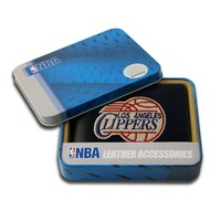 Los Angeles Clippers Leather Trifold Wallet (Black)