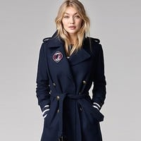 Long Military Wool Coat Gigi Hadid | Tommy Hilfiger USA