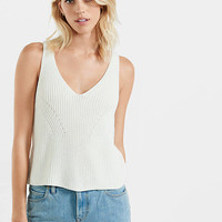 Shaker Knit Sweater Tank from EXPRESS