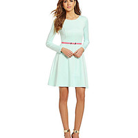 Gianni Bini Octavia Belted Fit-and-Flare Dress - Mojito