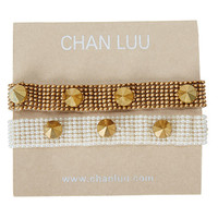 Chan Luu 2 Pack - 6 1/2' Seed Bead Bracelet with Studs