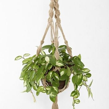Magical Thinking Hand-Knotted Hanging Planter | Urban Outfitters