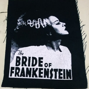 BRIDE OF FRANKENSTEIN patch goth horror punk classic  monsters Free Shipping