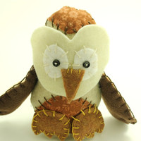 Owl Stuffed Animals - Woodland Critters - Handmade Owl Toy Woodland Nursery