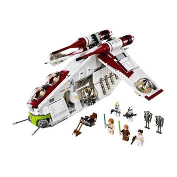 Star Wars Force Episode 1 2 3 4 5 LEPIN  05041 Blocks Legoing  75021 Clone The Republic Gunship Set Toys Obiwang Amidala With Legoings  AT_72_6