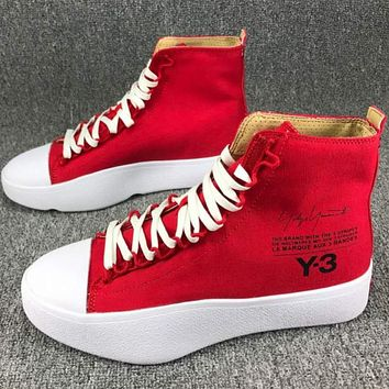 Adidas Y-3 Y3 high tops casual fashion sneakers F-CSXY red