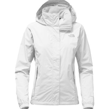 The North Face Womens Resolve 2 Jacket TNF White and High Rise Grey - S
