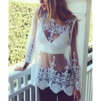 Boho Embroidered Blouse Top