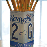 Kentucky License Plate Pencil Holder - Pencil Cup - Desk Accessories - Office Decor - Pen Cup - Pen Holder - New Job Gift - Unique Pen Cup