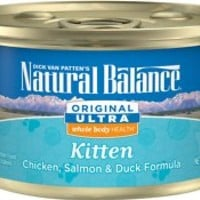 Natural Balance Original Ultra Whole Body Health Kitten Formula Chicken, Salmon & Duck Canned Cat Food, 3-oz, case of 24