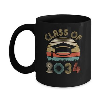Class Of 2034 Grow With Me Graduation First Day Of School Mug