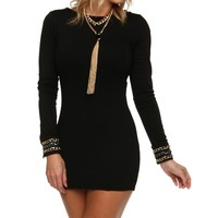Sale-black Chain Hook Up Tunic
