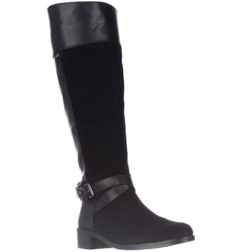 Vince Camuto Jaran Wide Calf Riding Boots - Black