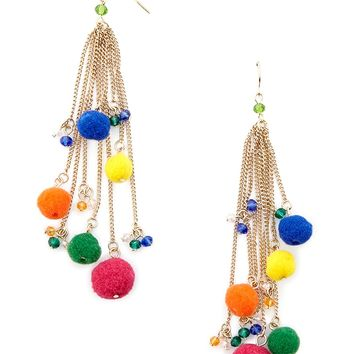 Pom Pom Duster Earrings