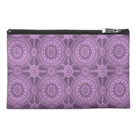 Classic Floral Pattern in Purple Travel Accessory Bag