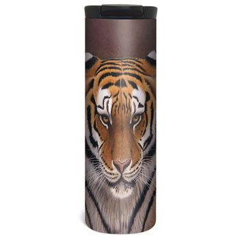 Big Cat Tiger Barista Tumbler Travel Mug - 17 Ounce, Spill Resistant, Stainless Steel & Vacuum Insulated