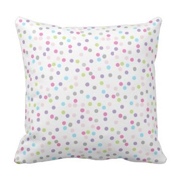 Abstract Art Pastel Colors Circles Cushion