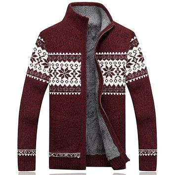 Men Sweater Fashion Autumn Winter Wool Cardigan Men's Casual Thick Warm Sweater Male Knitting Sweter Hombre M-3XL