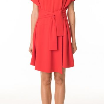 Tibi Structured Crepe Sculpted Dress
