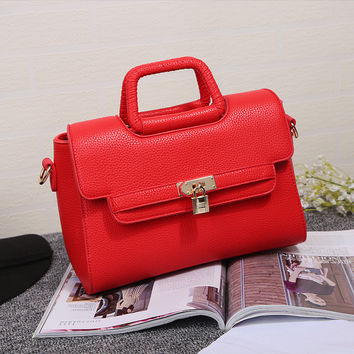 Winter Bags Lock Tote Bag One Shoulder Messenger Bags [6582902407]