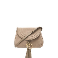 See By Chloe Polly Leather & Suede Shoulder Bag in Motty Grey