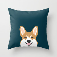 Teagan - Corgi Welsh Corgi gift phone case design for pet lovers and dog people Throw Pillow by PetFriendly