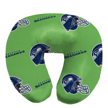 Seattle Seahawks NFL Beadded Spandex Neck Pillow (12in x 13in x 5in)