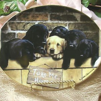 The Franklin Mint Heirloom Collection Take me Home.By Neil Hemming #Hb3215 plate