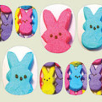 Peeps Nail Decals for Easter by IHeartNailArt on Etsy