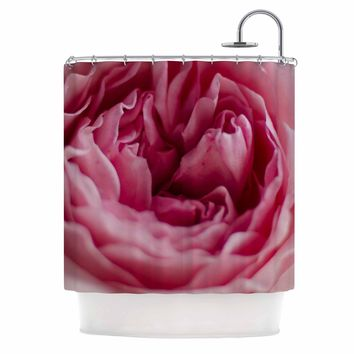 """Cristina Mitchell """"A Single Rose"""" Pink Pastel Floral Photography Shower Curtain"""
