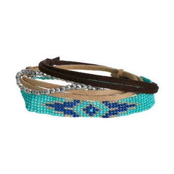 Southwest Beads Sliding Knot & Stretch Bracelet 4-Pack - Aeropostale