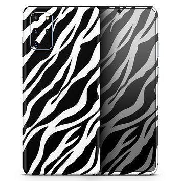 Simple Vector Zebra Animal Print - Skin-Kit for the Samsung Galaxy S-Series S20, S20 Plus, S20 Ultra , S10 & others (All Galaxy Devices Available)