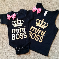 Mini Boss - Girls Tank - Girls Onesuit - Onesuit - Ruffles with Love - RWL Kids