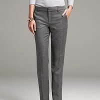 Banana Republic Womens Slim Fit Gray Dot Straight Leg