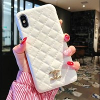 "Hot Sale ""CHANEL"" Trending Stylish Women iPhone Phone Cover Case For iphone 6 6s 6plus 6s-plus 7 7plus 8 8plus X White I12212-1"