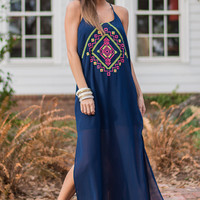 Stand Out Maxi Dress, Navy