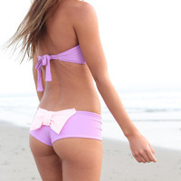 The Girl and The Water - Lolli - Bow Bottom Lavender/Pink - $67