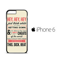 Shake it off quotes F0620 iPhone 6 Case